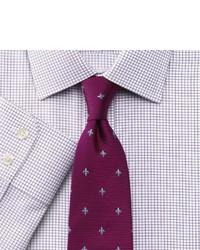Charles Tyrwhitt Slim Fit Non Iron Windsor Check Purple Shirt