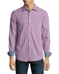 Original Penguin Gingham Short Sleeve Sport Shirt Pink