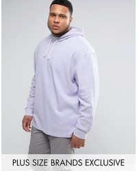 Puma Plus Waffle Oversized Hoodie In Purple To Asos