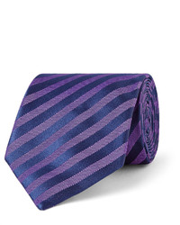 Charvet 8cm Striped Silk Jacquard Tie