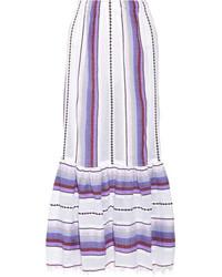 Lemlem Adia Convertible Striped Cotton Blend Gauze Skirt Violet