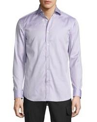 Ralph Lauren Mini Houndstooth Sport Shirt Purple