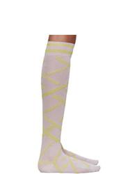 Versace Pink Lurex Socks