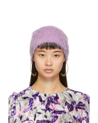 Marc Jacobs Purple Furry Beanie