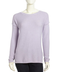 Vince Crew Long Sleeve Knit Sweater Lilac