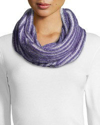 Todd And Duncan Cashmere Ribbed Eternity Scarf Violetlight Gray