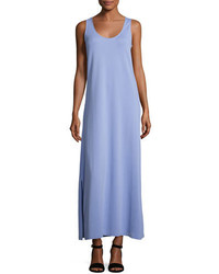 Joan Vass Pique Knit Long Tank Dress Lavender