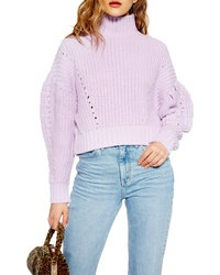 Topshop Cropped Turtleneck Sweater