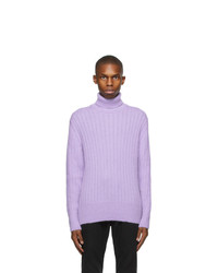 BOSS Purple Mohair And Wool Turtleneck