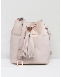 Ted Baker Soft Leather Bucket Bag With Tassel Detail