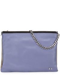 Heritage two tone leather crossbody bag lavender multi medium 391626