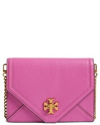 Kira leather envelope clutch purple medium 4136486