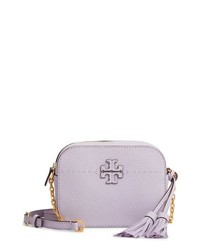 Light Violet Leather Crossbody Bag