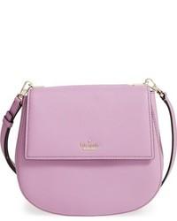 Kate Spade New York Cameron Street Byrdie Leather Crossbody Bag Purple