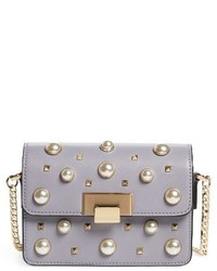 Topshop Ruby Faux Leather Crossbody Bag Purple
