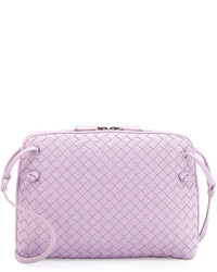 Bottega Veneta Small Pillow Woven Crossbody Bag Lavender