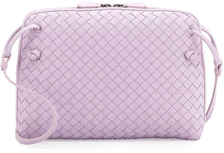 b7e313cc7c ... Bottega Veneta Small Pillow Woven Crossbody Bag Lavender ...