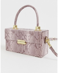 BCBGeneration Snake Effect Structured Handheld Bag