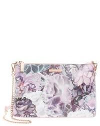 Ted Baker London Illuminated Bloom Leather Crossbody Bag Purple