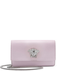 Versace Textured Leather Shoulder Bag Lilac