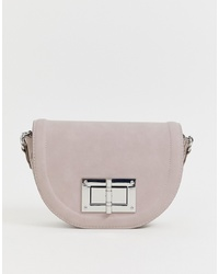 Lipsy Turn Lock Saddle Bag In Lilac