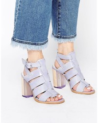 Miista Isabella Strappy Leather Heeled Sandals
