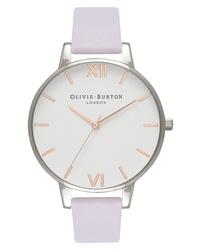 Olivia Burton White Dial Leather Watch