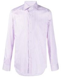 Canali Fine Stripe Cotton Shirt