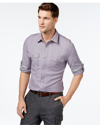 DKNY Jeans Roll Tab Button Front Shirt
