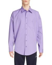 Balenciaga Long Sleeve Button Up Cocoon Shirt