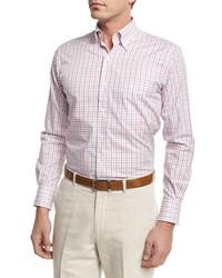 Peter Millar Marina Tattersall Sport Shirt Pink