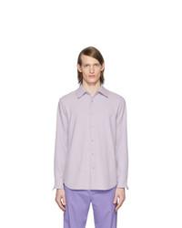Tibi Purple Chalky Drape Shirt