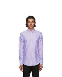 DSQUARED2 Purple Oxford 70s Shirt