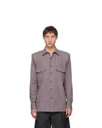 Dries Van Noten Purple Padded Ballroom Shirt