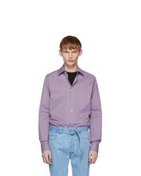 Prada Purple Stretch Poplin Shirt