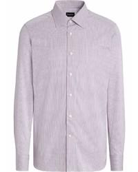 Ermenegildo Zegna Stripe Pattern Cotton Shirt