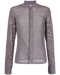 Bottega Veneta Technical Mesh Knitted Shirt