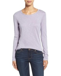 Light Violet Long Sleeve T-shirt