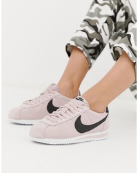 Nike Cortez Trainers In Pink Nylon