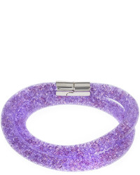 Swarovski Stardust Convertible Crystal Mesh Braceletchoker Mauve Medium