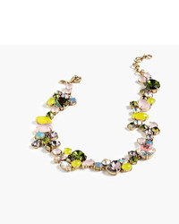 J.Crew Colorful Crystal Foliage Necklace