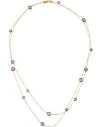 Ippolita Lollipop 18k Dark Amethyst Station Necklace 50l