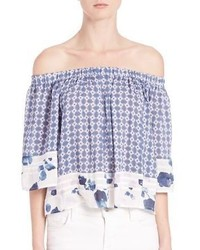 Yfb Clothing Perris Printed Off The Shoulder Top