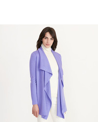 Light Violet Open Cardigan