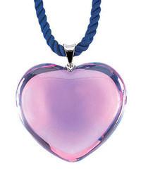 Baccarat Glamour Heart Pendant Parma Violet