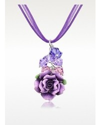 Dolci Gioie Purple Rose Pendant Wlace