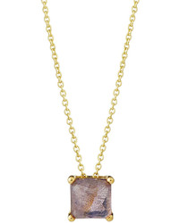 Ippolita Rock Candy 18k Square Sliding Pendant Necklace In Amethyst Doublet