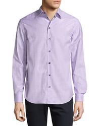 Box check plaid sport shirt lavender medium 962372