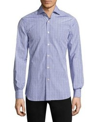 Kiton Plaid Button Down Shirt