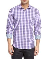 Shaped fit check sport shirt medium 1161827